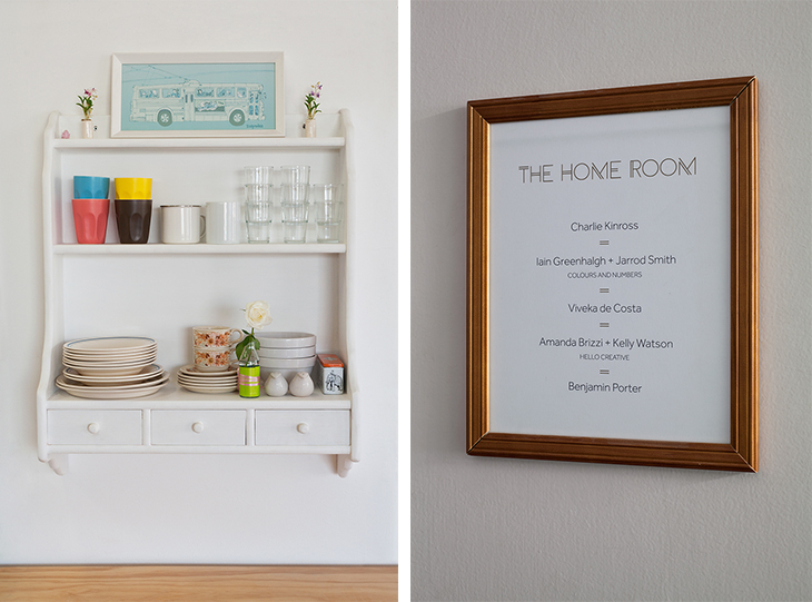 Kitchen and sign